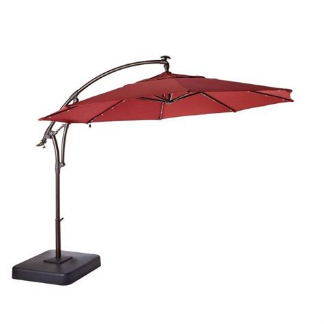 Small Outdoor Patio Umbrellas 11 Ft Led Offset Patio Umbrella In Home Improvement Goods From Small To Big