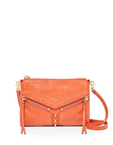 Botkier Pocket Bag by Lyst Botkier Trigger Leather Crossbody Bag In Orange