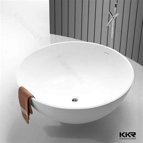 small round bathtub resin stone japanese soaking tub round bathtub buy