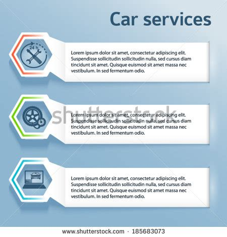 Auto Layout Presentation | auto service car wash background icons stock vector