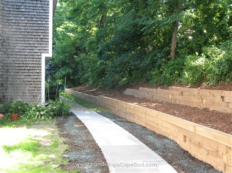 Landscape Timbers Cape Cod Viewing Tag Timber Retaining Wall