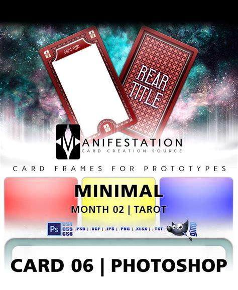 gimp id card template card 06 minimal tarot photoshop gimp card design