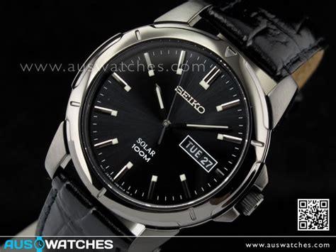 Seiko Date Day Black buy seiko solar black 100m day date leather band sne097p1 buy watches seiko aus