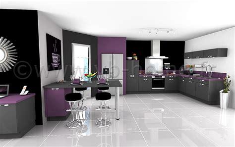 Cuisine Violet Et Gris by Rideaux Violet Gris Rideau Oeillets Microfibre Noir Motif