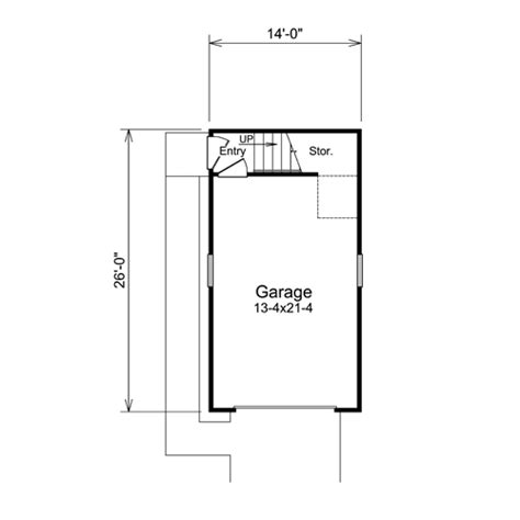 1 Car Garage Dimensions by Nestor Woods 1 Car Garage Plans