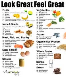food and recipes a list of healthy foods to eat