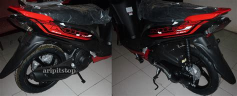 Viar Motor V1 Hitam aripitstop 187 tang dari mio j 2014 warna merah
