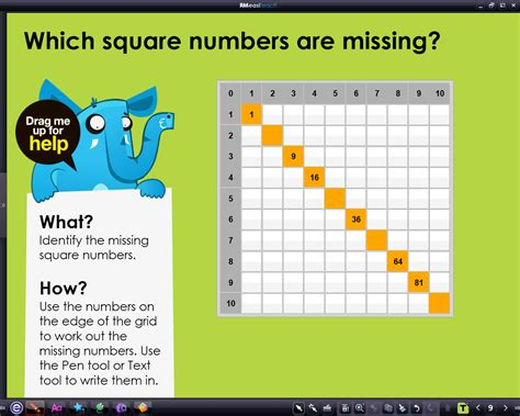 pattern square numbers space safari number patterns square numbers rm easilearn