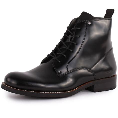 g manor dryden hi shine mens leather black boots new