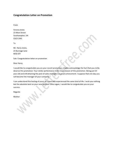 Promotion Cancellation Letter Exle Of Congratulatory Letter For Promotion Best Photos Of Sle Congratulations Letter