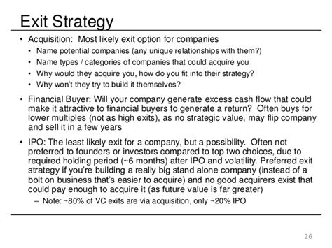 project exit strategy template the best startup investor pitch deck how to present to