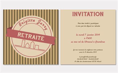 Modele Invitation Depart Retraite