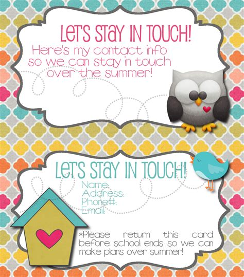 let s stay in touch cards 2013 version the simply