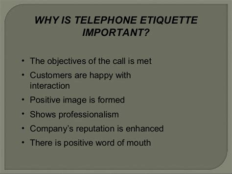 7 Crucial Tips On Telephone Etiquette by Presentation Telephone Etiquette