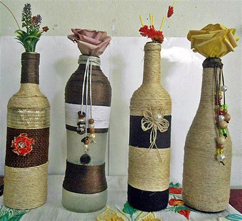 garrafas decoradas barbante r 20 00 em mercado livre - Garrafas Decoradas Home