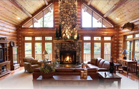 custom stone fireplace   center   great room