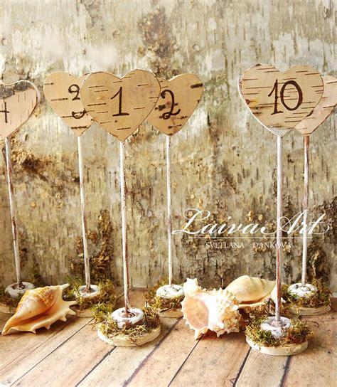 rustic wedding table numbers rustic wedding table numbers centerpiece wood birch
