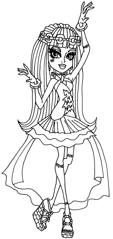 coloring pages monster high 13 wishes frankie 13 wishes by elfkena on deviantart