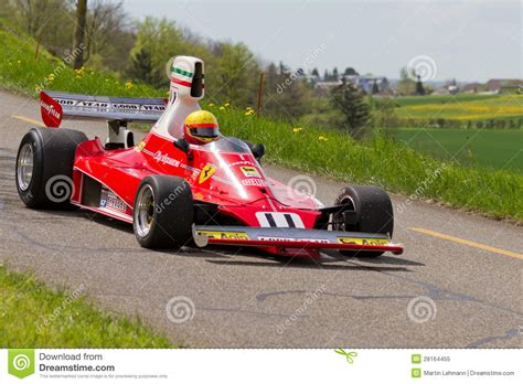 ferrari classic race car vintage race car ferrari 312t from 1975 editorial image