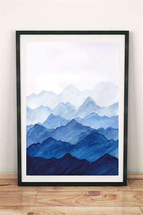 wandbild mit blauen bergen bild landschaft berge als deko