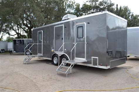 trailer bathroom rental 10 station restroom trailer rental right trailers new and used cargo flatbed