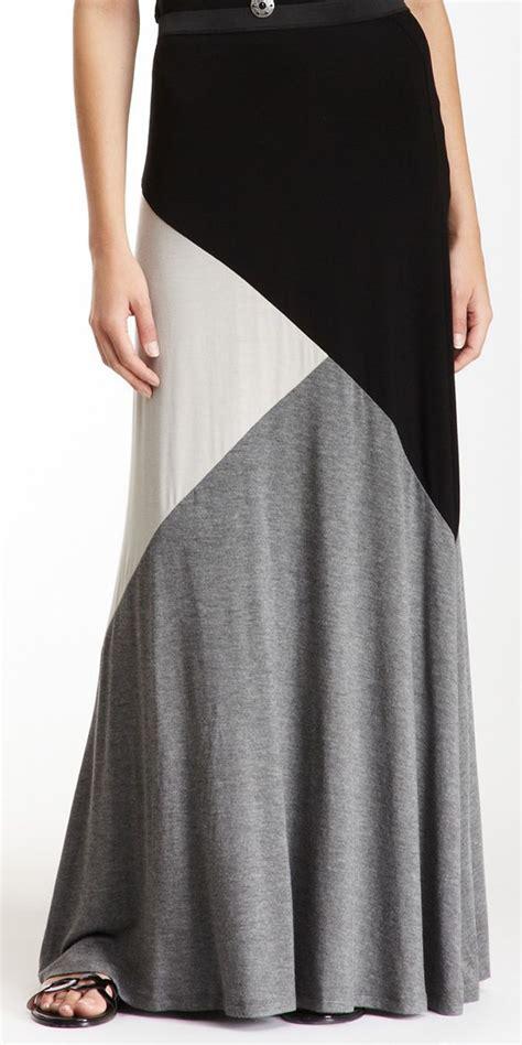 colorblock jersey maxi skirt closet