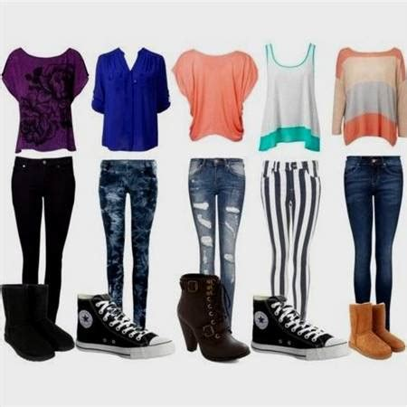 cute clothes for girls in middle school in winter 2017