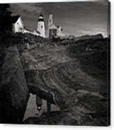 pemaquid point lighthouse home decor metal photo print pemaquid lighthouse at dawn black and white photograph by
