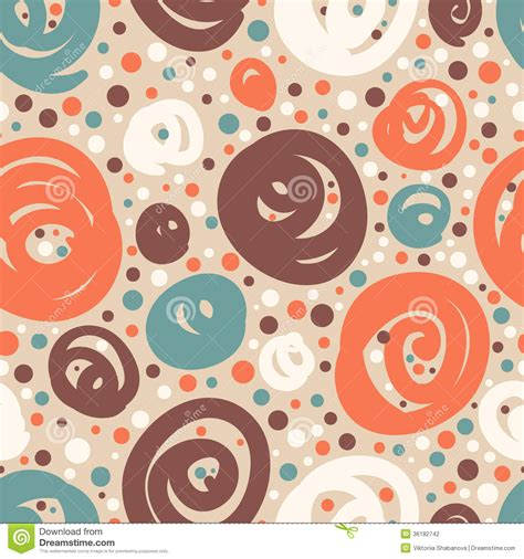 doodle dots seamless pattern with doodle dots stock photography