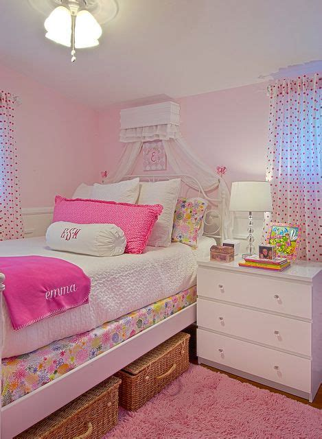ikea renate flora bedding white quilt pink polka dot curtains adelyn s room
