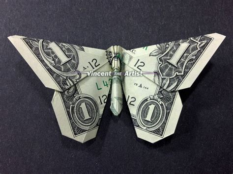 Origami Dollar Bill Butterfly - butterfly money origami insect animal dollar bill