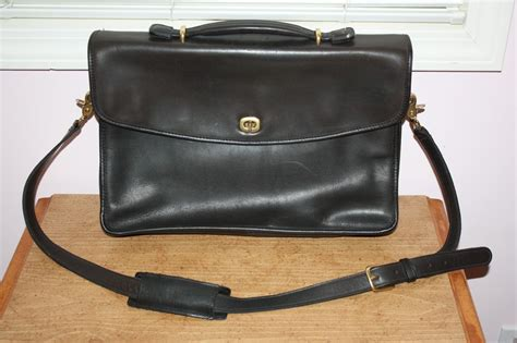 Coach Messenger Laptop Bag 1 coach black leather laptop briefcase messenger bag ebay