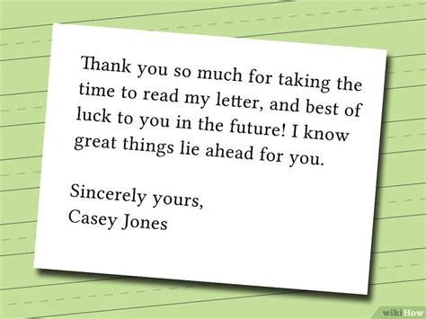 thank you letter to ur comment 233 crire une lettre de fan 10 233 wikihow