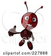 clipart picture   ant bug mascot cartoon character   hand  holding  stop sign