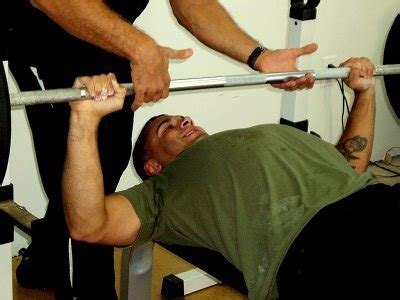Spotter Bench Press Back To Training Tips Oneresult