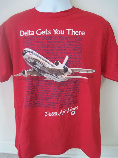 T Shirt Western Airlines delta 1980 s promo shirt skyshirts