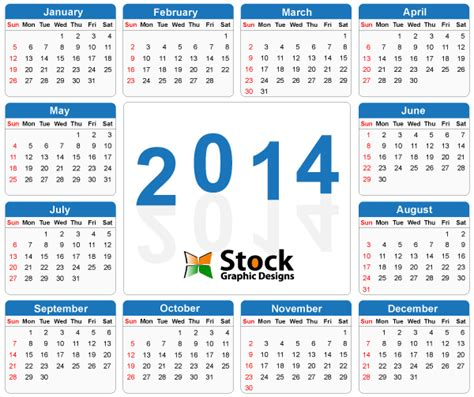 2014 calendar template with holidays 2014 calendar vector free free printable pdf