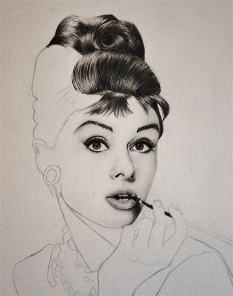 audrey hepburn hair style simple drawings sketches audrey hepburn by brendachen on deviantart
