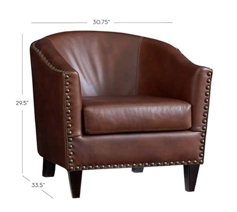 pottery barn armchairs harlow leather armchair pottery barn
