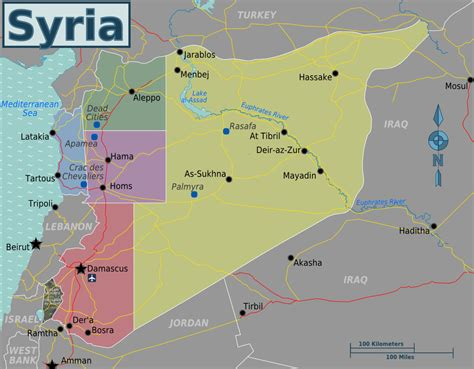 syria map of syria travel guide at wikivoyage