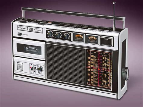 radio cassette grundig radio cassette recorder c6200 illustration
