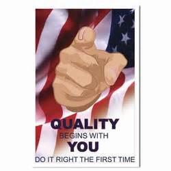 Qp286 quality process poster quality process placard quality