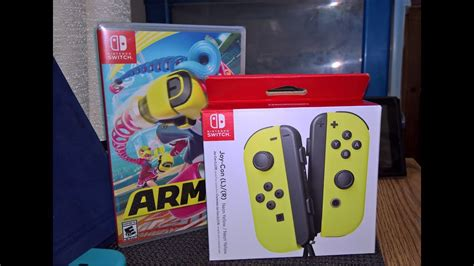 Nintendo Switch Con L R Yellow And Arms Murah neon yellow con and arms unboxing for nintendo switch