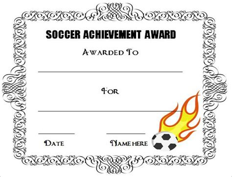 editable soccer award certificate templates free