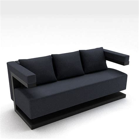 black fabric couch modern black fabric sofa 3d model cgtrader com