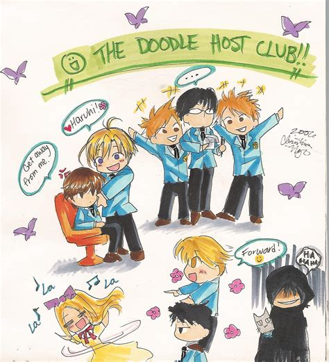 doodle club the doodle host club by ember snow on deviantart