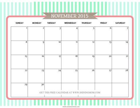 printable calendar november 2015 free cute free printable calendar 2015 january page 2 search