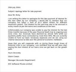 Apology Letter To For Late Of Project Apology Letter For Being Late 7 Free Documents In Pdf Word
