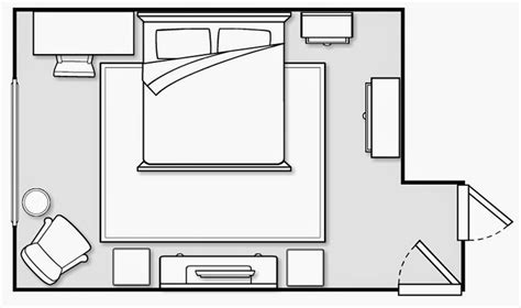 floor plan bedroom