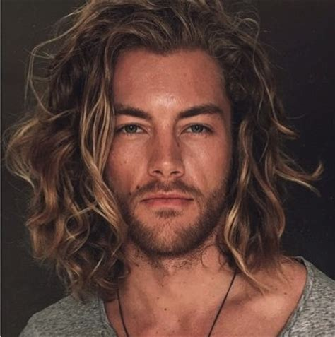 famous hair styles for tall mens long brown wavy hair male model growing guys long hair